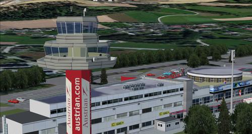 Klagenfurto oro uostas LOWK Austrija FSX  &  P3D