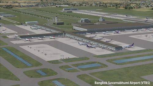 बैंकाक VTBD और VTBS हवाई अड्डे FSX  &  P3D