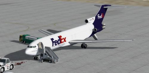 බෝයිං 727-200 DHL ෆෙඩෙක්ස් FSX  &  P3D