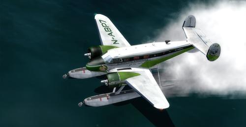 Beechcraft D18S anfibio FS2004