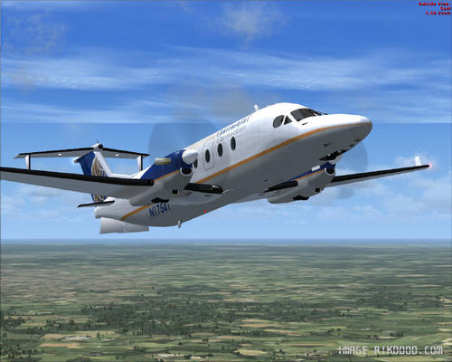 Beechcraft B1900D regionaal passagiersvliegtuig FSX
