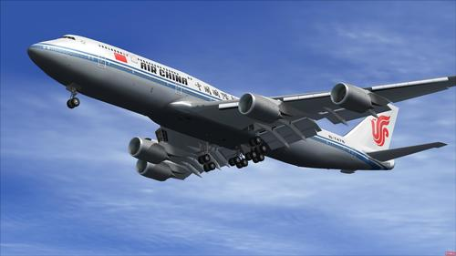 Paket Boeing 747-8i Air China FSX  &  P3D