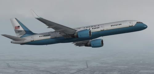 Boeing C-32 Air Force Lua USAF FSX  &  P3D