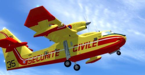 Bombardier CL-415 Canadair - Super Scooper FSX & P3D