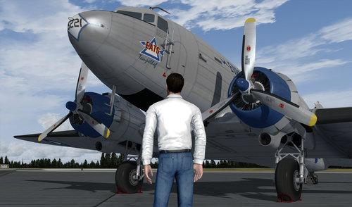 ဒေါက်ဂလပ်ကို C-47R Skytrain FSX  &  P3D
