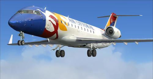 Bombardier CRJ-200 fullur pakki FSX  &  P3D