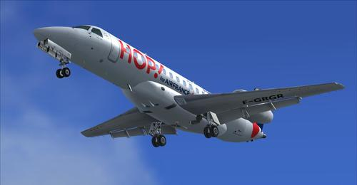 "Embraer 135 HOP! ""Air France"" FSX  &  P3D"