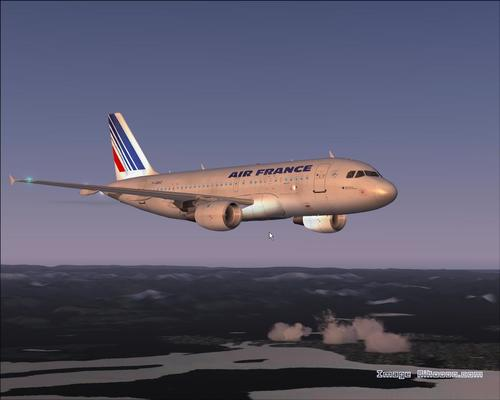 Airbus in A319-111 Air France FS2004