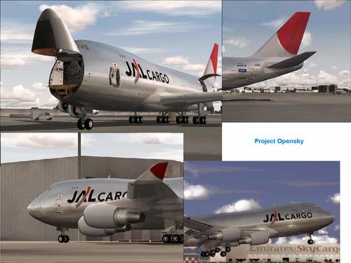 بوينغ 747-400 JAL البضائع FS2004