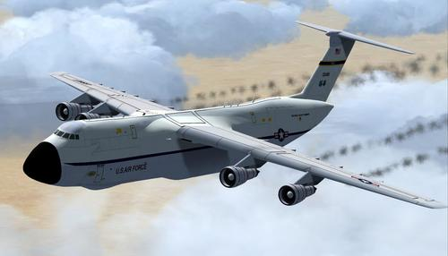 Galaxy Alphasim на Lockheed C-5 FSX  &  P3D