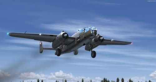 อเมริกาเหนือ B-25J RAF MkII FSX  &  P3D