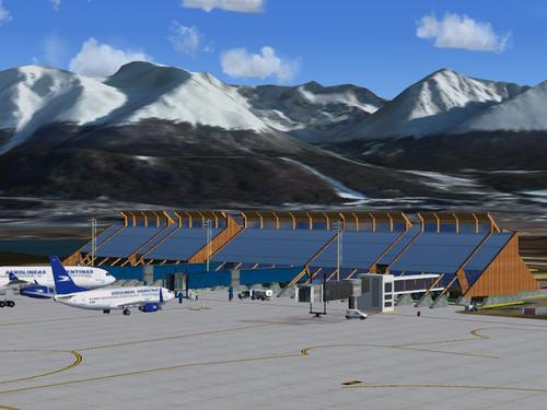 """Ushuaia Malvinas Argentinas"" tarptautinis oro uostas FSX  &  P3D"