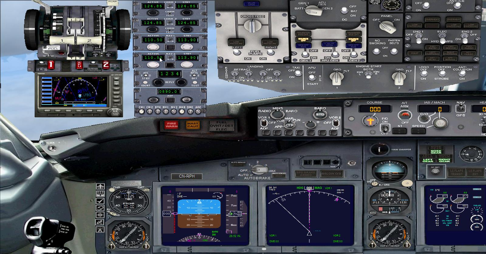 બોઇંગ 737-400 પેનલ