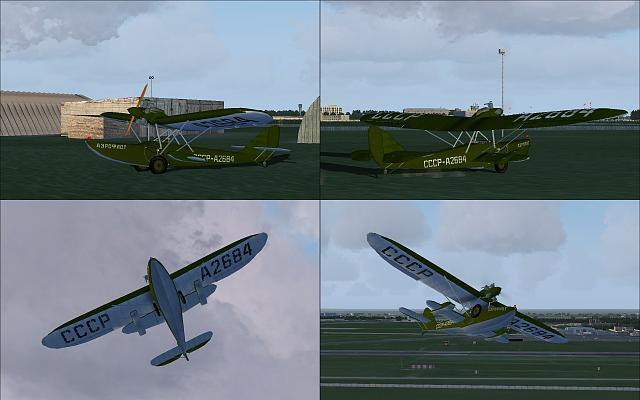 Shavrov 1930 Sh-2 v1.5 X-Plane 9 intro